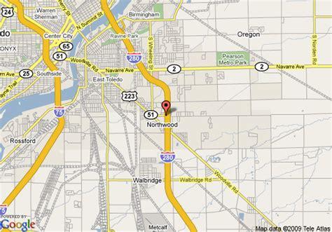 map of oregon ohio map of sleep inn and suites oregon northwood