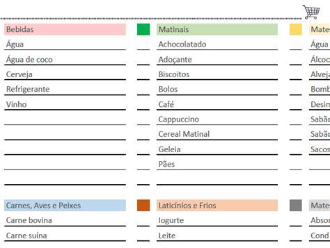 nova lista do idhab marco 2016 lista de compras de supermercado pronta para imprimir