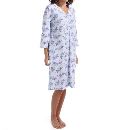 Flowery Sleepwear flowery 3 4 sleeve zip caftan 8714954
