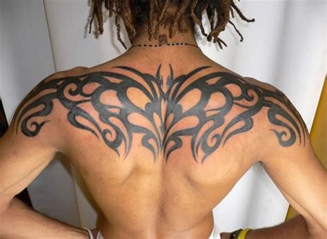 awesome upper back tribal tattoos for men tattoos for men