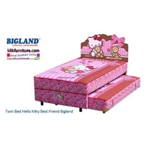 Bed Bigland Karakter hello anak furniture lemari ranjang springbed meja