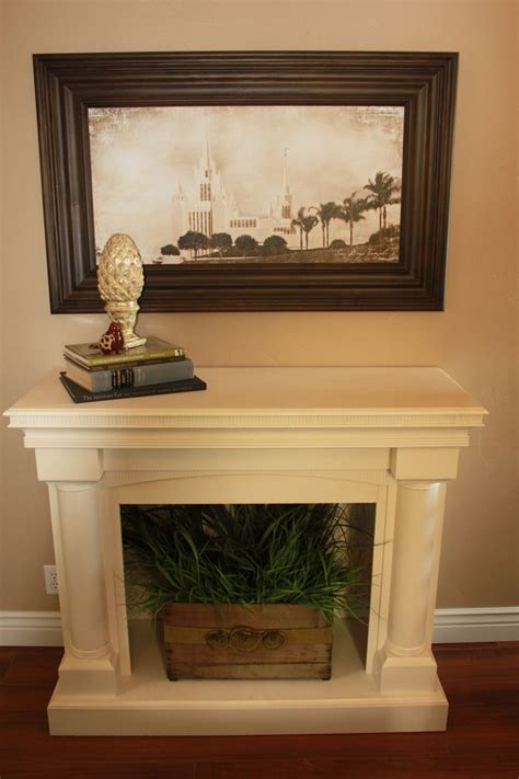 faux fireplace with insert up cycling faux