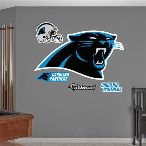 Carolina Panthers Decorations by Carolina Panthers Logo Wall Decal Shop Fathead 174 For
