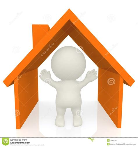 man where house 3d man inside a house stock illustration illustration of architecture 15427447