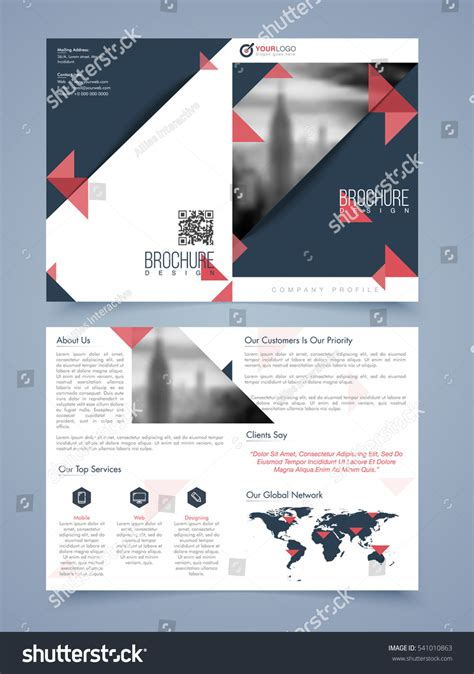 two page brochure template two page brochure template flyer layout stock vector