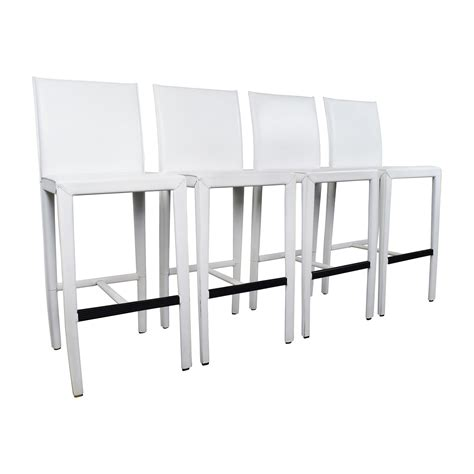 Crate And Barrel Leather Bar Stools by 80 Crate And Barrel Crate Barrel Folio White
