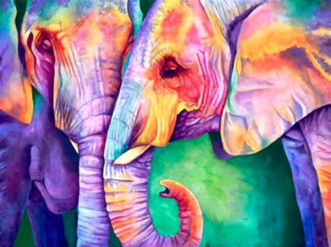 abstract elephant wallpaper colorful elephants fantasy abstract background