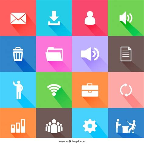 flat design icon download flat web elements icons vector free download