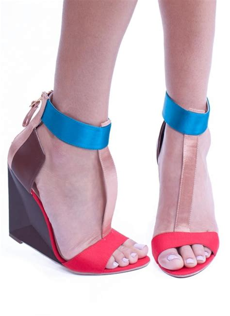 colorful wedge sandal with t by messes of dresses