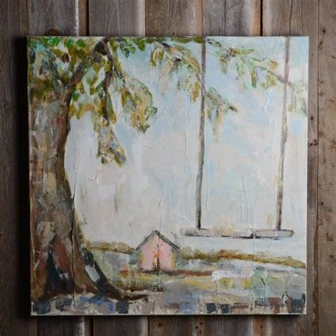 swing house artists sarah robertson pink house and swing painting trees
