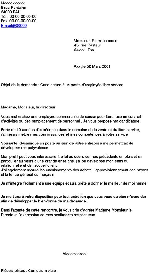 Lettre De Motivation Vendeuse Libre Service Epub Lettre De Motivation Employe Libre Service Candidature Spontanee