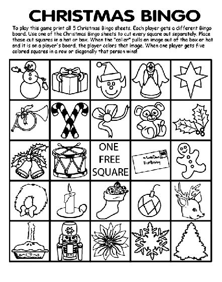 crayola coloring pages for christmas christmas bingo board no 2 coloring page crayola com