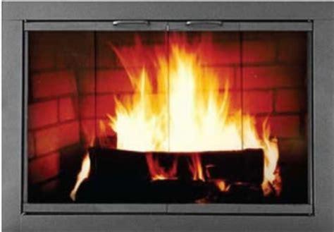 modern fireplace glass doors modern fireplace doors images