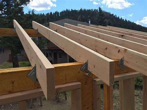 rafters  secured  hangershurricane clips building  hybrid timberframe