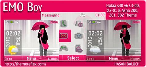 Themes Nokia C3 Emo | emo boy live theme for nokia x2 00 c2 01 x3 05 240 215 320