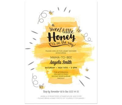 Bee Baby Shower Invitations by Bumble Bee Baby Shower Invitations