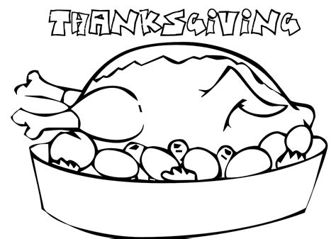 cooked turkey coloring page free cool thanksgiving coloring pages for children