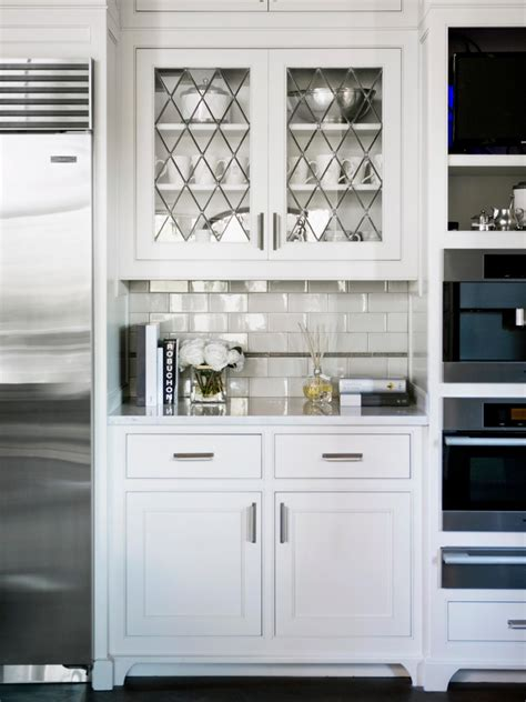 Photo Page Hgtv White Glass Door Kitchen Cabinets