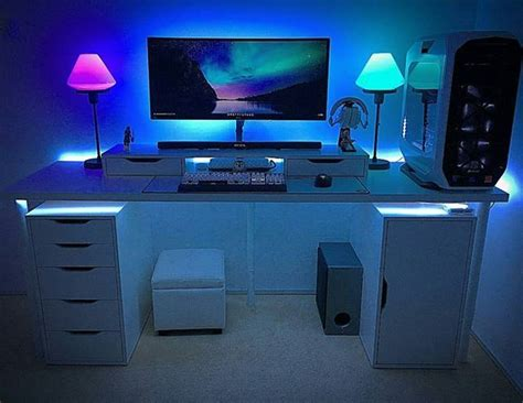 Gaming Pc Desk Setup Best 25 Gaming Setup Ideas On Computer Setup Pc Gaming Setup And Gaming Computer Setup