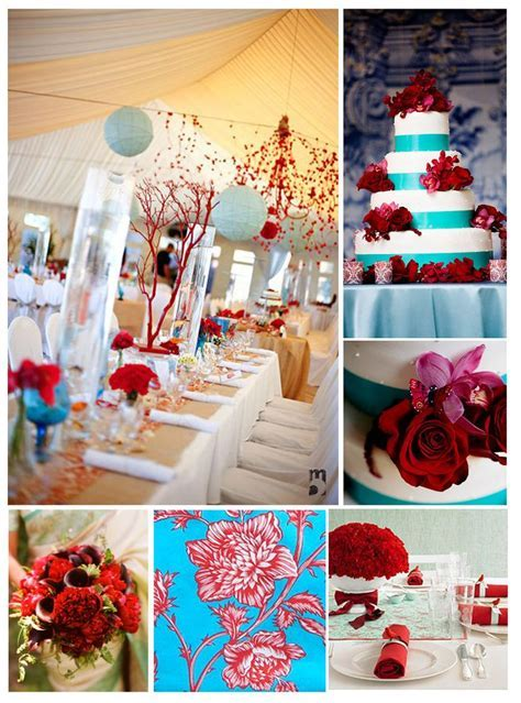 93 best Turquoise and Red Wedding images on Pinterest