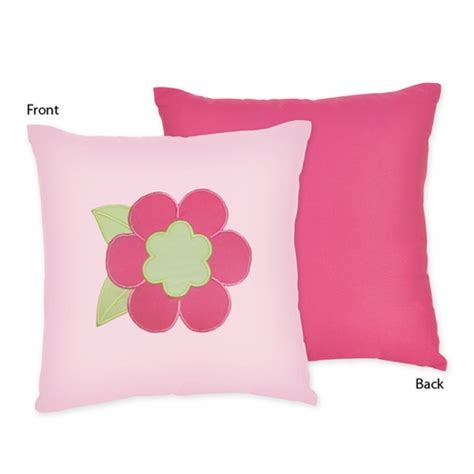 Pink And Green Decorative Pillows by Pink And Green Flower Decorative Accent Throw Pillow By