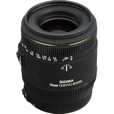 Sigma Lens For Canon Sigma 70mm F 2 8 Ex Dg Macro Af Lens For Canon Eos 270101 B H