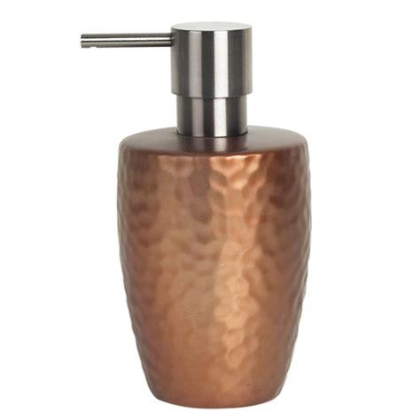darwin bathroom supplies spirella darwin hammered soap dispenser copper iwoot