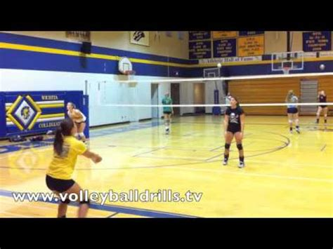 volleyball setting drills by yourself volleyball ball controll drill pass to yourself set to