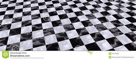 Checkered Floor by Black White Checkered Floor Illustration Stock