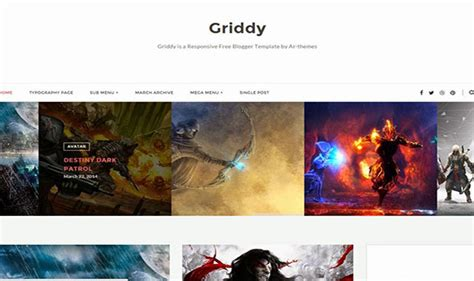 blogger themes protemplateslab griddy blogger template