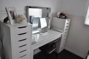 Makeup Vanities With Storage makeup by cheryl h ikea vanity redecoration and makeup storage vlogs blogs