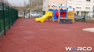 safe kindergarten or pre school play area with rubber
