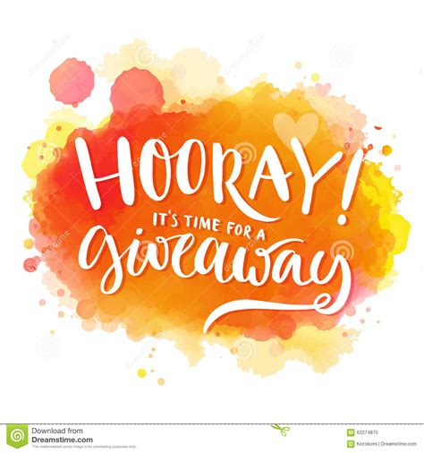 Free Sweepstakes - hooray it s time for a giveaway banner for stock vector image 62274875