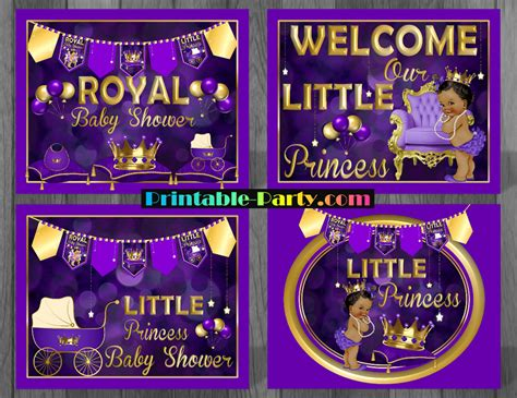 Royal Baby Shower Decorations by Royal Princess Baby Shower Decorations Purple Ethnic