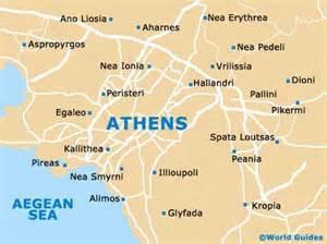 athens maps and orientation athens attica greece