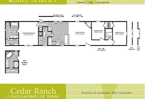 3 bedroom 2 bath double wide floor plans single wide mobile home floor plans 3 bedroom