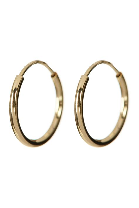 candela jewelry 14k yellow gold 10mm endless hoop
