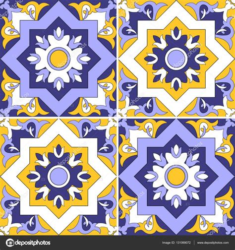 turkish pattern ai tile pattern vector seamless with flowers motifs azulejo