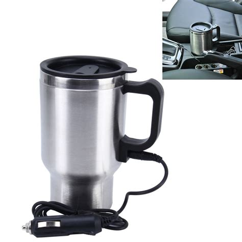 Stainless Steel Electric Smart Mug 12V Car Electric Kettle Heated Mug Car Coffee Cup With