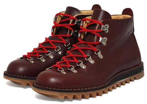 Handmade Leather Hiking Boots - his knibs classic s style fracap ripple sole
