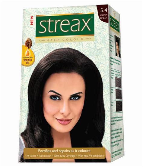 walnut hair color streax walnut brown hair colour no 5 4 buy streax walnut