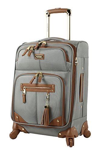steve madden carry on 20 quot expandable softside luggage with spinner wheels