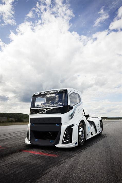 volvos hp iron knight breaks truck speed records carscoops