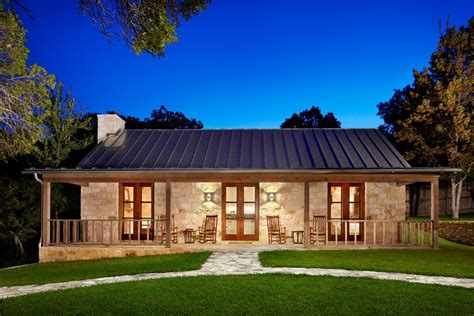 Texas Luxury Ranch Exterior Farmhouse With French Doors