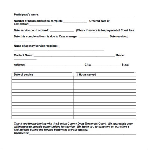community service form template 3 essay writing tips to community service hours form