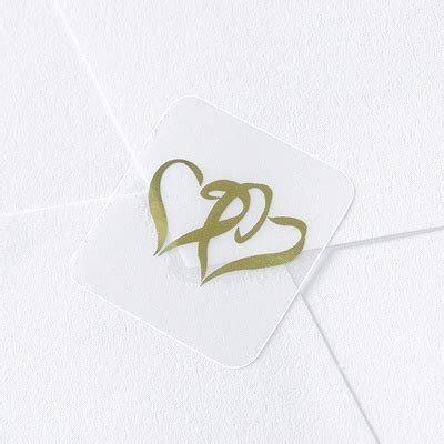 blank printable envelope seals blank gold hearts wedding seal
