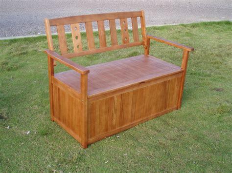 wooden cushion storage bench view outdoor storage bench