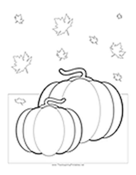 coloring page of pumpkins and leaves thanksgiving printables