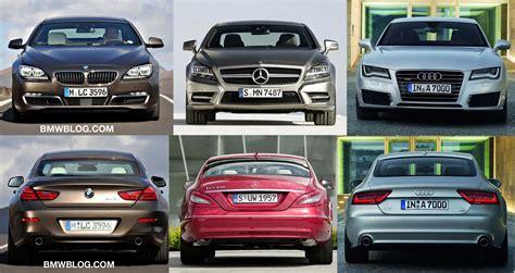 Price Comparison Bmw Audi Mercedes by Photo Comparison Bmw 6 Series Gran Coupe Vs Audi A7 Vs