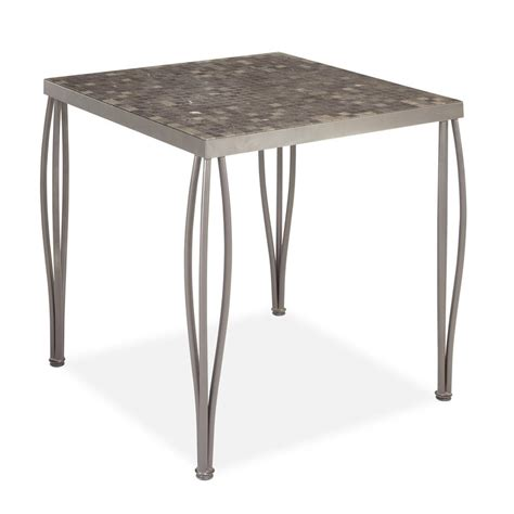 Square Table L Shop Home Styles Glen Rock 36 In W X 36 In L Square Steel Bar Table At Lowes